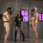 月野理々佳女王様が尿道プレイと肛門プレイを2人のマゾヒスト獣に完全調教!
