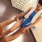ショートカット女優の向井藍がS女に挑戦!競泳水着姿でM男調教ドラマ!
